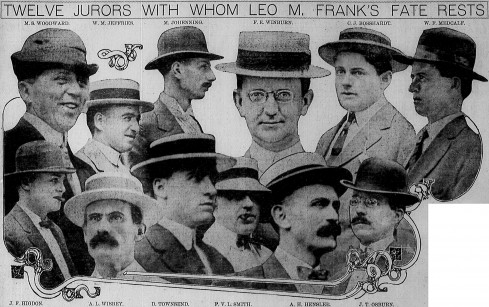 The jurors in the Leo Frank case