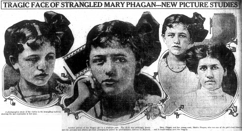 Mary Phagan and her aunt, Mattie Phagan