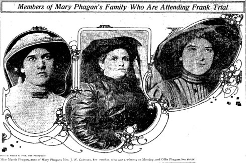 Mary Phagan's aunt, mother, and sister.