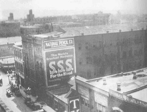 The National Pencil Company factory, 1913, where Mary Phagan met her death