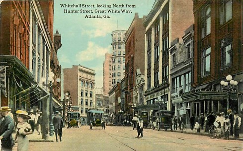 Atlanta circa 1913, as viewed from Hunter Street